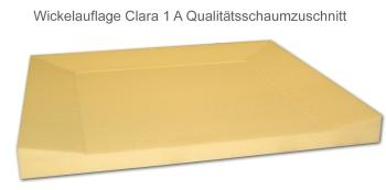 Wickelauflage Modell Clara mit 3 seitiger Aufkantung