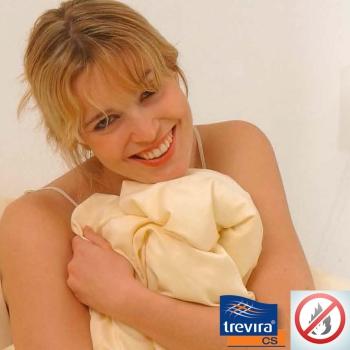 Schwer entflammbarer Bettbezug