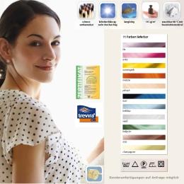 Sichtschutzvorhang aus Trevira® CS 110 x 175 cm hellblau Chromfarbene Ösen