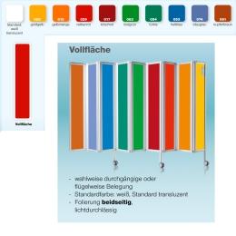 Die Faltwand: Farben und Design
